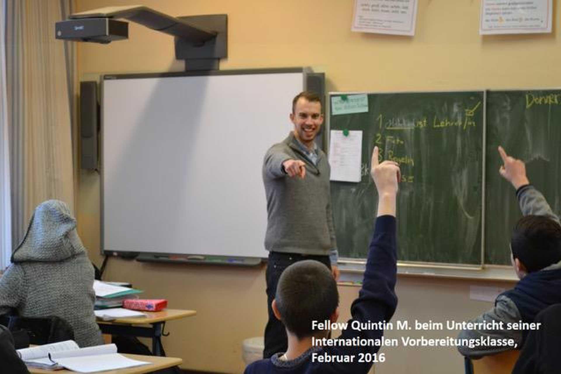 """Ein """"FELLOW"""" für die Stadtteilschule Wilhelmsburg"""